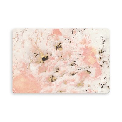 Feinstein Marbled Indoor/Outdoor Doormat Mat Size: Rectangle 16 x 23, Color: Pink