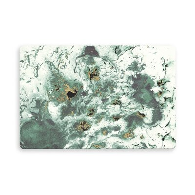 Feinstein Marbled Indoor/Outdoor Doormat Mat Size: Rectangle 16 x 23, Color: Green