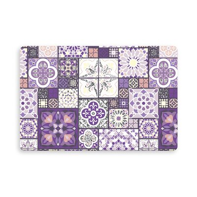 Chrisman Reich Tile Indoor/Outdoor Doormat Mat Size: Rectangle 26 x 42, Color: Purple