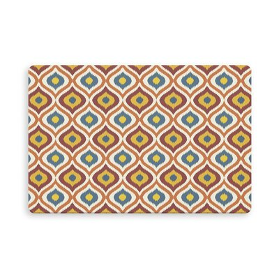 Espitia Ikat Ogee Indoor/Outdoor Doormat Mat Size: Rectangle 26 x 42, Color: Orange