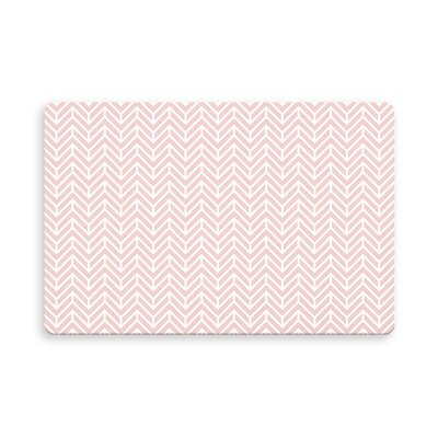 Esposito Chevron Indoor/Outdoor Doormat Mat Size: Rectangle 26 x 42, Color: Rose