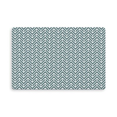 Esposito Chevron Indoor/Outdoor Doormat Mat Size: Rectangle 16 x 23, Color: Teal