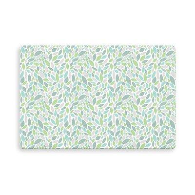 Hilley Indoor/Outdoor Doormat Mat Size: Rectangle 26 x 42, Color: Green/Purple
