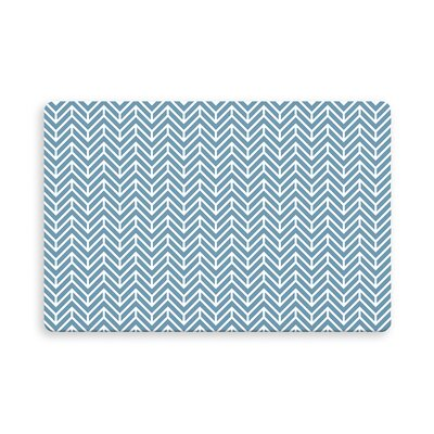 Esposito Chevron Indoor/Outdoor Doormat Mat Size: Rectangle 16 x 23, Color: Ocean/Blue