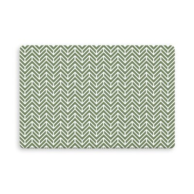 Esposito Chevron Indoor/Outdoor Doormat Mat Size: Rectangle 16 x 23, Color: Grass/Green