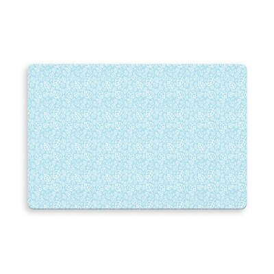 Decarlo Erskine Indoor/Outdoor Doormat Mat Size: Rectangle 16 x 23, Color: Blue
