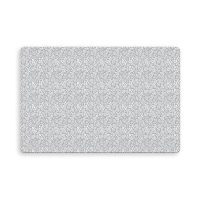 Decarlo Erskine Indoor/Outdoor Doormat Mat Size: Rectangle 16 x 23, Color: Gray