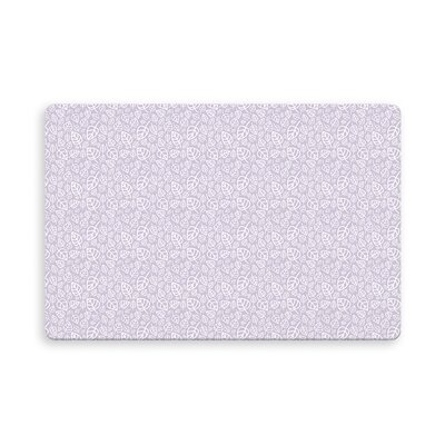 Decarlo Erskine Indoor/Outdoor Doormat Mat Size: Rectangle 16 x 23, Color: Purple