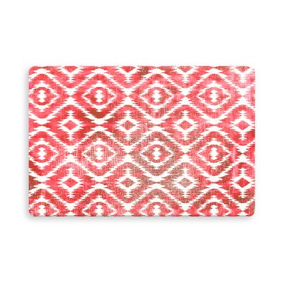 Laplant Medlock Indoor/Outdoor Doormat Mat Size: Rectangle 16 x 23, Color: Warm Pink
