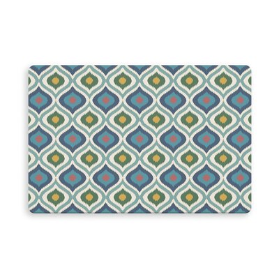 Espitia Ikat Ogee Indoor/Outdoor Doormat Mat Size: Rectangle 26 x 42, Color: Blue