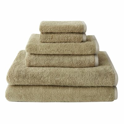 Hester Street Quick Dry 6 Piece Towel Set Color: Tan