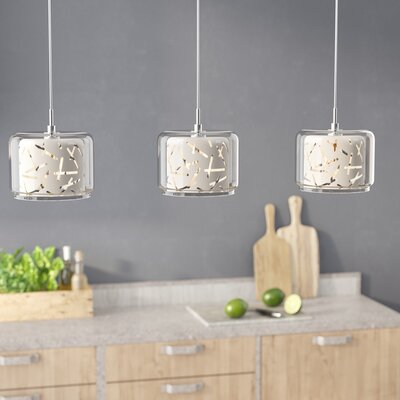 Hephaestus 3-Light Pendant and Canopy Shade Color: White