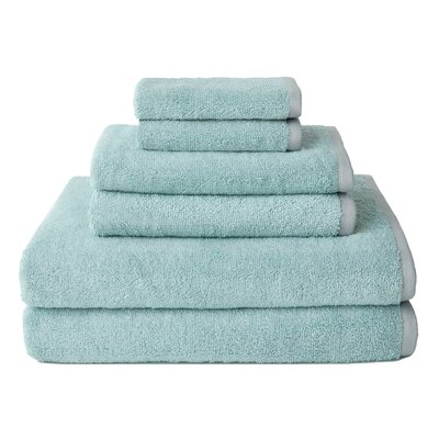 Hester Street Quick Dry 6 Piece Towel Set Color: Light Blue