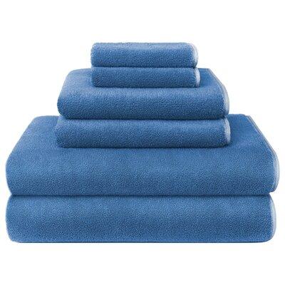 Hester Street Quick Dry 6 Piece Towel Set Color: Blue