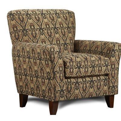 Verduzco Armchair Upholstery: Bayou Black/Gold
