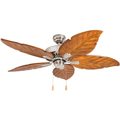 52 Hobkirk 5 Blade LED Ceiling Fan Accessories: Standard No Remote