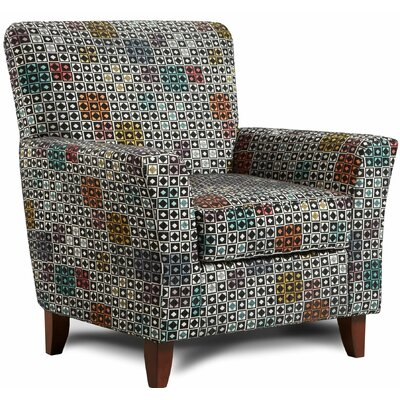 Verduzco Armchair Upholstery: Bali Orange/White