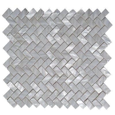 0.6 x 1.2 Seashell Mosaic Tile in Gray