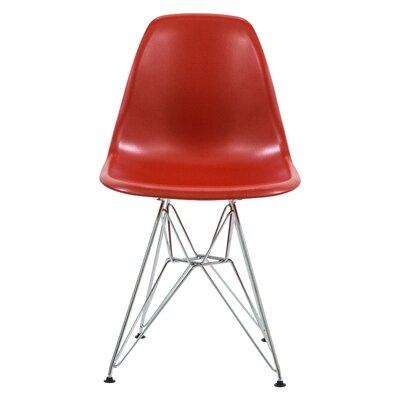 Alethia Dining Chair Color: Solid Red/Chrome