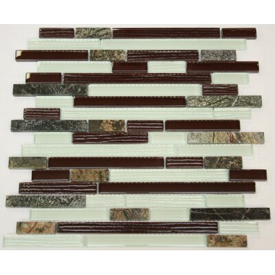 SAMPLE - Rain Forest Random Sized Marble Mosaic Tile in Brown/Beige