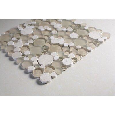 SAMPLE - Random Sized Glass Mosaic Tile in White