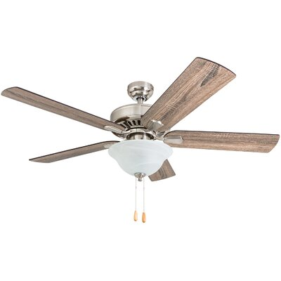 52 Tysen 5 Blade LED Ceiling Fan Accessories: Standard No Remote