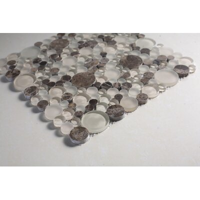 SAMPLE - Glass Mosaic Tile in Brown/Clear