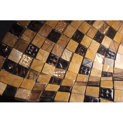 SAMPLE - Glass Mosaic Tile in Gold/Black