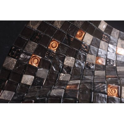 SAMPLE - Glass Mosaic Tile in Black