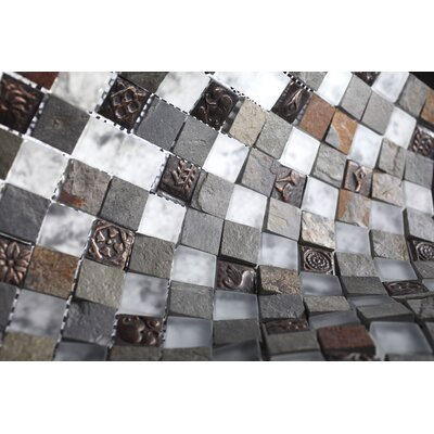 SAMPLE - Glass Mosaic Tile in Gray