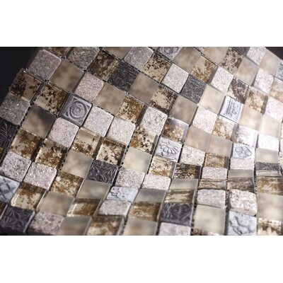 SAMPLE - Rocky Glass Mosaic Tile in Brown