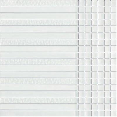 SAMPLE - Crystile Random Sized Glass Mosaic Tile in White