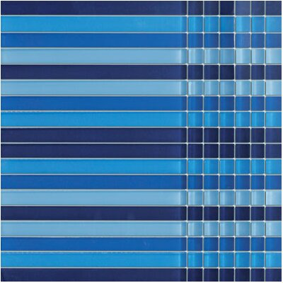 SAMPLE - Crystile Random Sized Glass Mosaic Tile in Blue