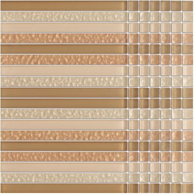 SAMPLE - Crystile Random Sized Glass Mosaic Tile in Brown