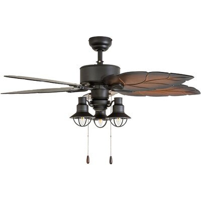 52 Wrightsville 5 Blade LED Ceiling Fan Accessories: Standard No Remote