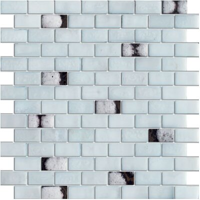 SAMPLE - Milky Glass Mosaic Tile in Blue