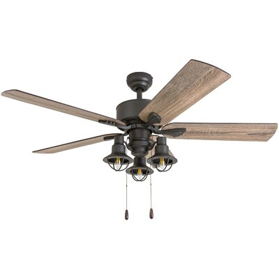 52 Ratcliffe 5 Blade LED Ceiling Fan Accessories: Standard No Remote