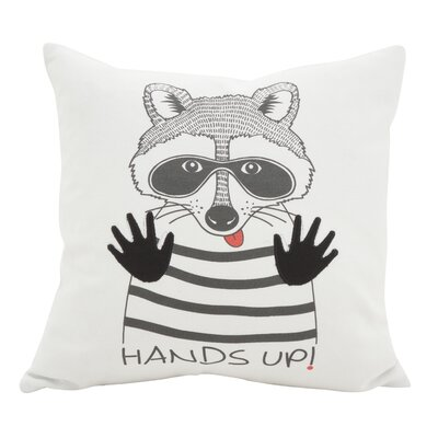 Hunley Raccoon Cotton Throw Pillow