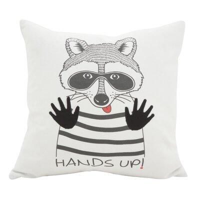 Hunley Raccoon Cotton Throw Pillow