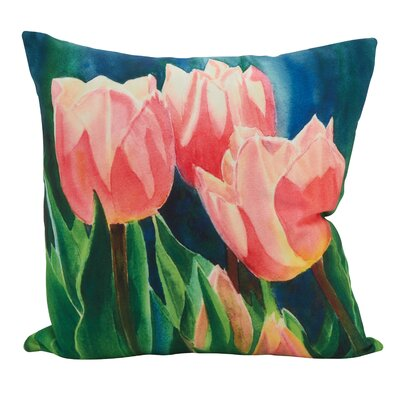 Steinke Blooming Tulips Throw Pillow