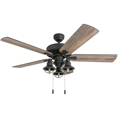 52 Ravello 5 Blade LED Ceiling Fan Accessories: Standard No Remote