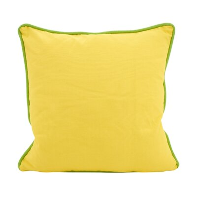 Hunnicutt Accent Cotton Throw Pillow Color: Yellow