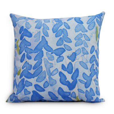 Quarterman Flower Throw Pillow Color: Blue, Size: Medium, Location: Outdoor