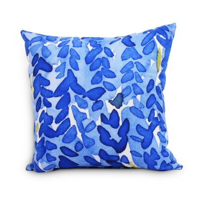 Quarterman Flower Throw Pillow Color: Dark Blue, Size: Large, Location: Indoor