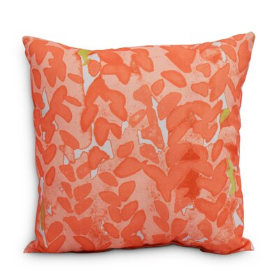 Quarterman Flower Throw Pillow Color: Orange, Size: Extra Large, Location: Outdoor