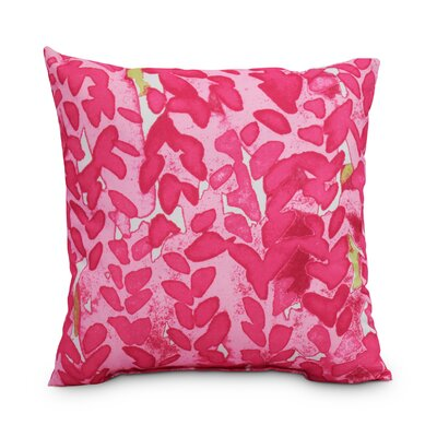 Quarterman Flower Throw Pillow Color: Pink, Size: Medium, Location: Outdoor