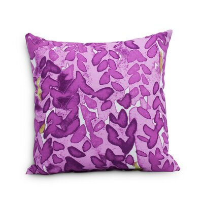 Quarterman Flower Throw Pillow Color: Purple, Size: Large, Location: Outdoor