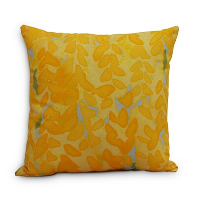 Quarterman Flower Throw Pillow Color: Yellow, Size: Medium, Location: Outdoor