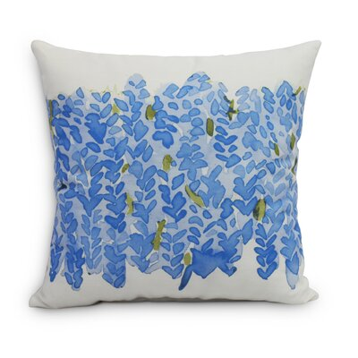 Quarterman Throw Pillow Color: Blue, Size: Large, Location: Outdoor