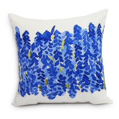 Quarterman Throw Pillow Color: Dark Blue, Size: Large, Location: Outdoor